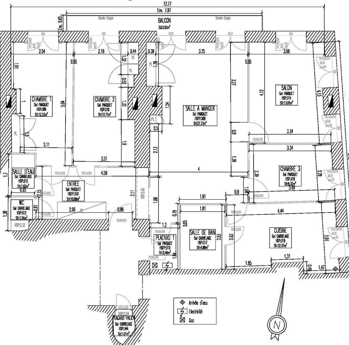 SCAL plan architecture relevé Lyon Villeurbanne