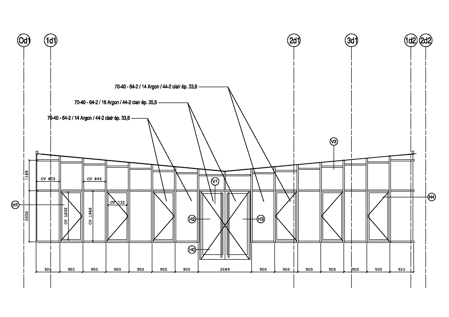 SCAL plans en bâtiment - verranda